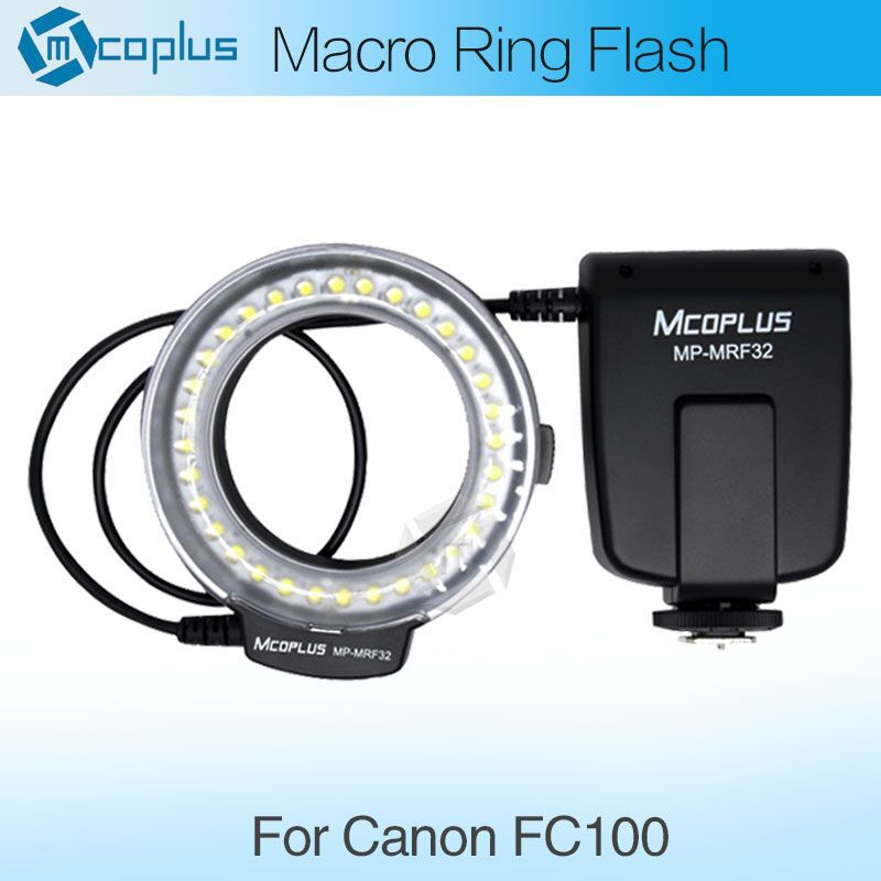 Meike FC100 LED Macro Ring Flash Light for Canon 450D 500D 550D 600D 650D 700D 1100D 6D 7D 5DII 60D 50D Digital SLR Camera(China (Mainland))