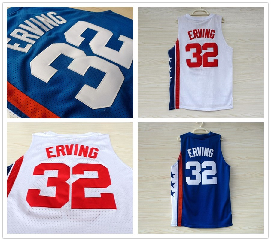New Arrival Hot Sale!!!  Mens Basketball Jersey #32 Julius Erving Jerseys blue white Embroidery logo Stitched Throwback Dr. J s<br><br>Aliexpress