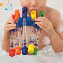 5pcs/1 Row New Kids Children Colorful Water Flutes Bath Tub Tunes Toy Fun Music Sounds Bath Toy(China (Mainland))
