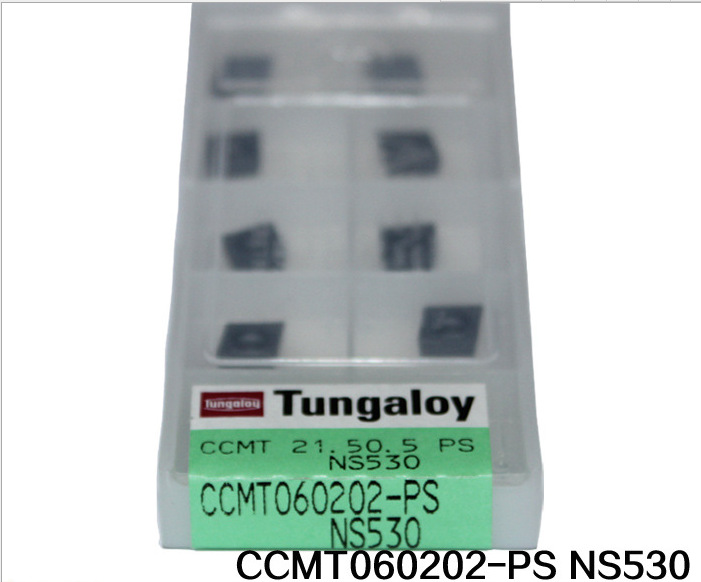 10pcs/box Tungaloy inserts round turning tool into hard alloy CCMT060202-PS NS530(China (Mainland))