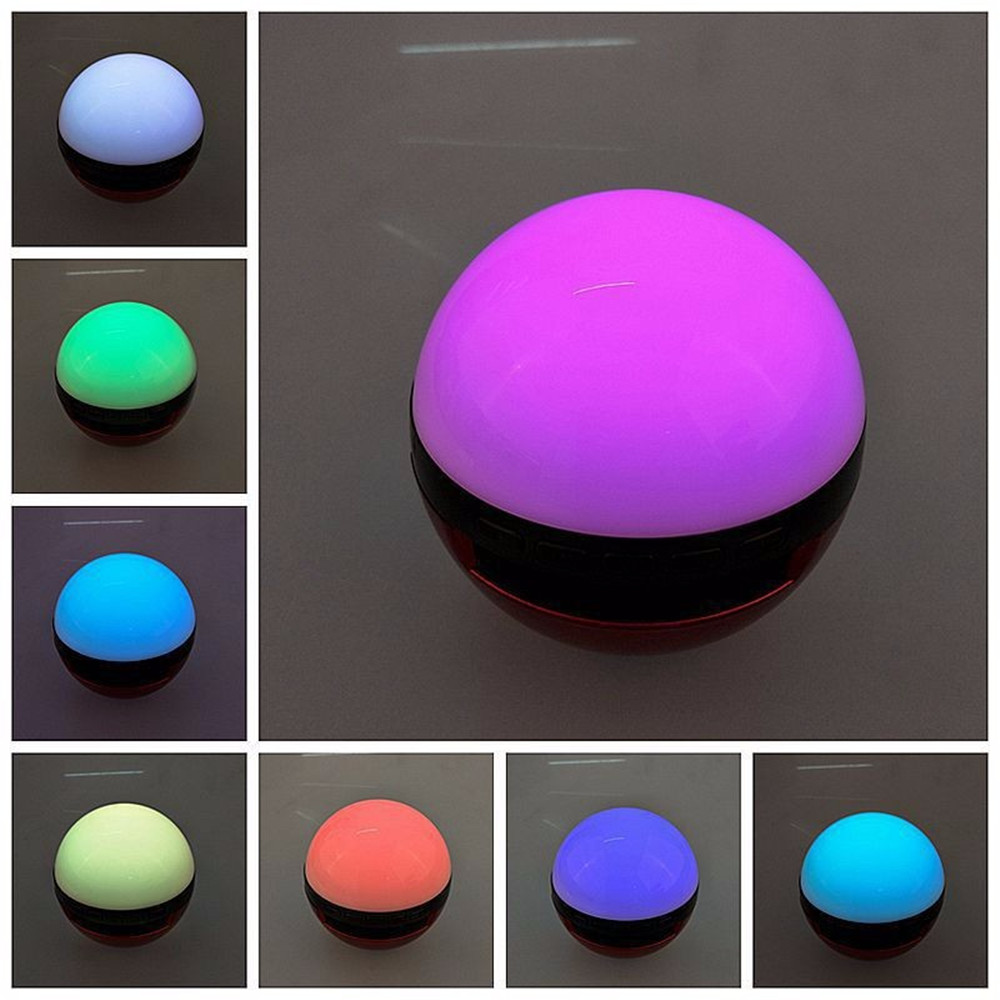 Pokemons Ball Wireless Bluetooth Speaker Led Color Change Stereo Audio Speaker Calls Handsfree Support TF Card AUX Line-in Mode(China (Mainland))