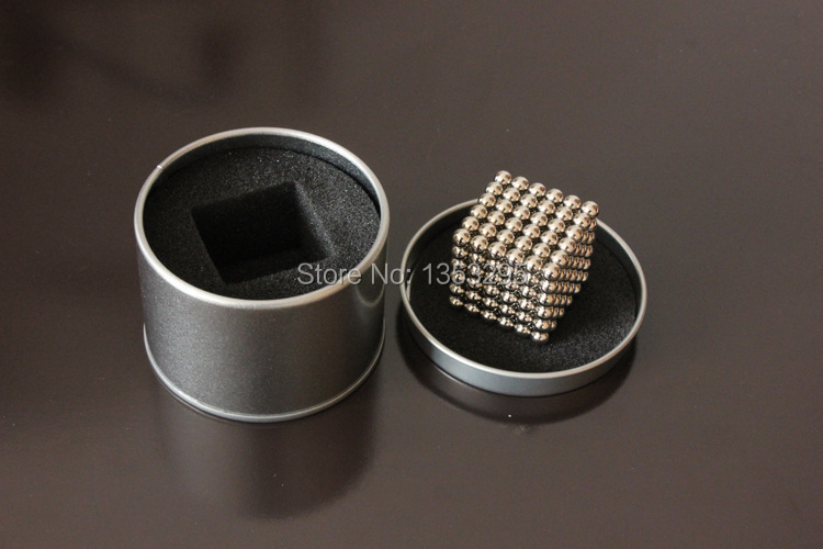 Free shipping neocube magic cube / 216pcs 7mm magnetic balls / buckyballs / cybercube Silver color(China (Mainland))