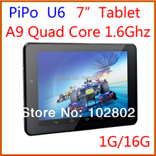 New arrival! PIPO U6 Android 4.2 Quad-Core 1.6GHz 1GB/16GB 7-inch IPS Screen Tablet PC with Dual-camera Bluetooth HDMI(China (Mainland))