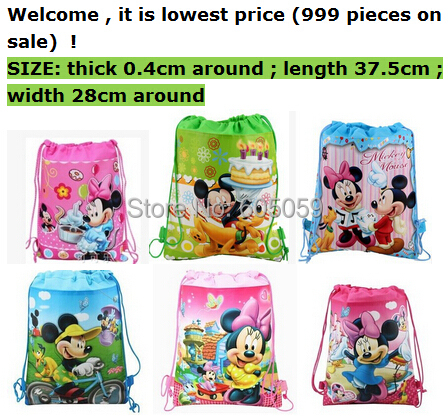 kids Christmas Gift Children's Minnie mickey school bags backpack unisex birthday gift toys storage bags for baby uhu001(China (Mainland))