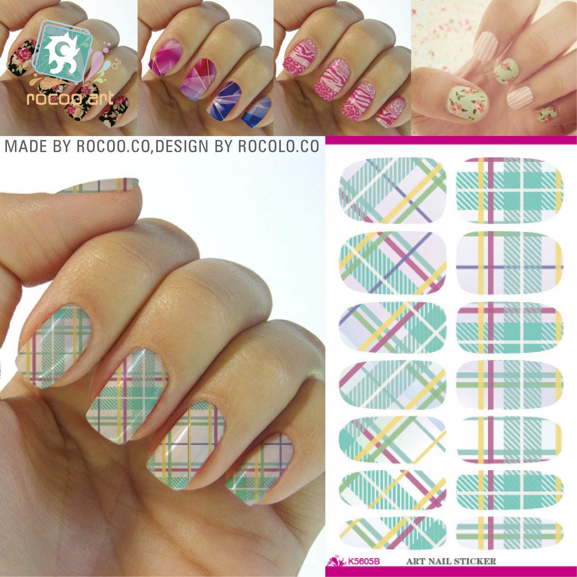 Дизайн ногтей с наклейками полосками фото