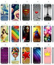 Mobile Phone Case Hot 1pc Skull Flower Print Hybrid Design Protective White Hard Case For ipod touch 5 5th Free Shipping
