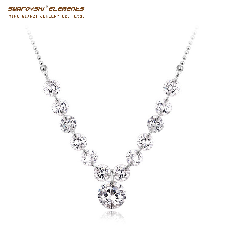 2015 Vintage Large Zirconia Crystal Flower Necklaces & Pendants Beautiful Women Jewelry Making Crystals from swarovski element(China (Mainland))