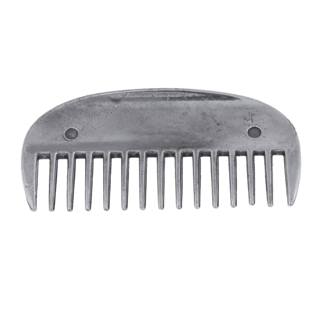 Horse Pony Cattle Reversible Oval Rings Metal Animal Grooming Curry Comb