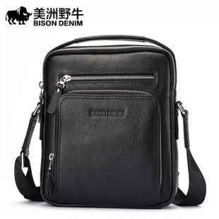 American Buffalo Business single  designer handbags high quality  fashion handbags Man Single shoulder Genuine leather<br><br>Aliexpress