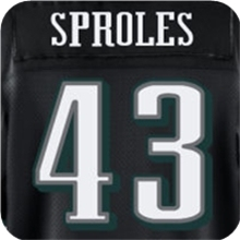 MENS #27 Malcolm Jenkins#17 Nelson Agholor#43 Darren Sproles# Color Green White Black Jerseys(China (Mainland))