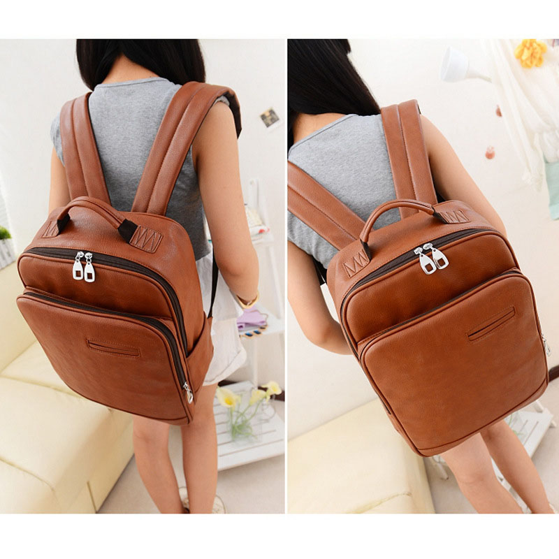 2015 Bolsas Feminina New Vintage Pu Leather Women Backpacks Girls Schoolbag Crossbody Shoulder Book Bag For Teenagers Travel Sac<br><br>Aliexpress