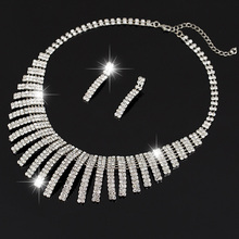 2016 Women's Jewelry Mystic Simulated Silver Pendant Angel Jewlery Sets Womens Set Necklace Artificial Diamond Necklace Set N159(China (Mainland))