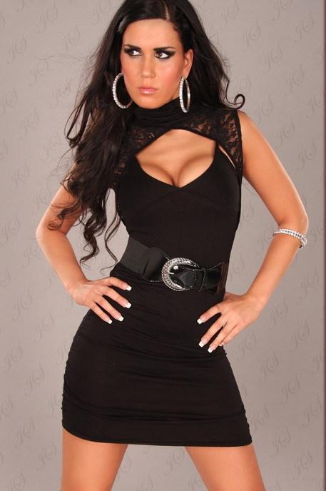 короткое черное платье.секс фото