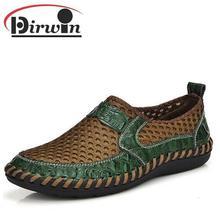 Летние дышащая мужская кожаная обувь кроссовки соты дизайн лоскутная мужчины свободного покроя пляжная обувь квартиры марка ручной спортивная обувь