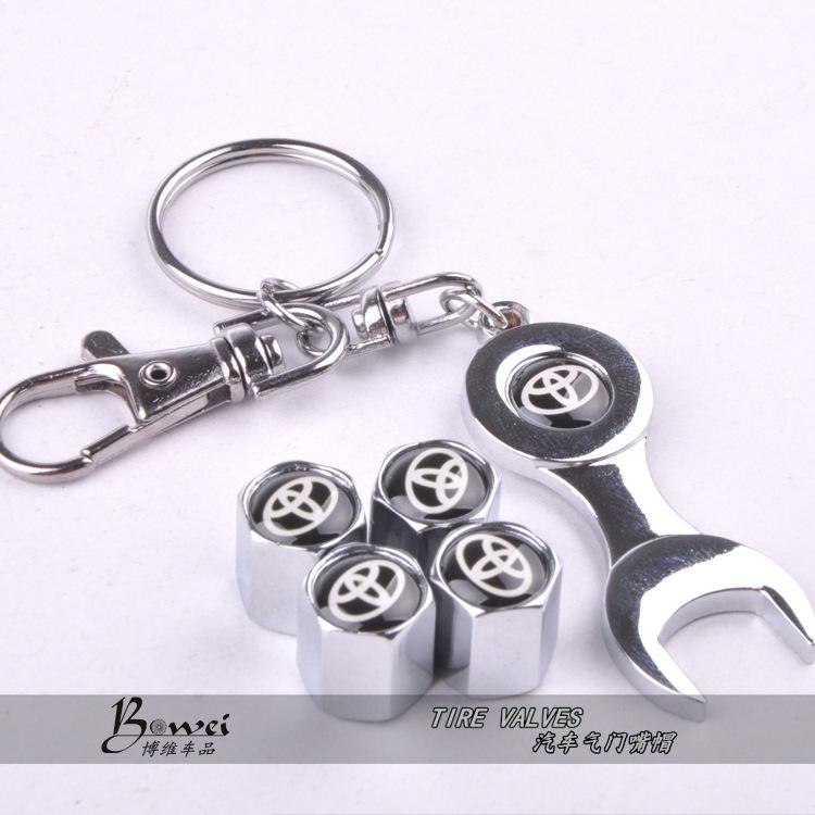 Новый горячая распродажа автомобиля колесо шина колпачки с мини гайковерт и брелок для Toyota ( 4-Piece / упаковка )