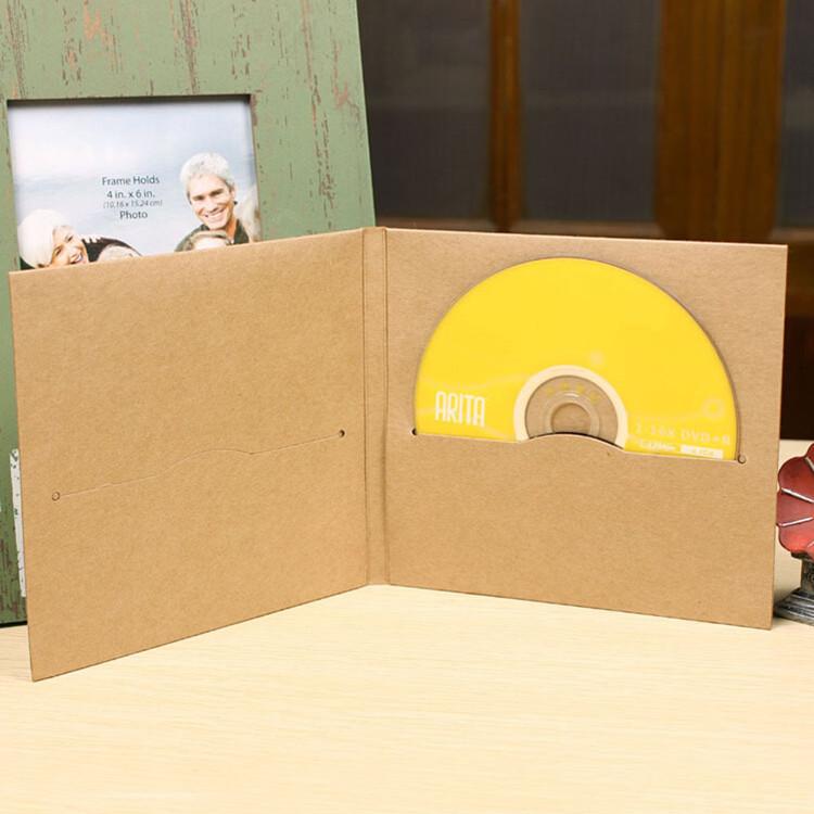 5 13.5*14.5cm Kraft Paper CD / DVD Sleeve Package Pack Bags Packaging Packing