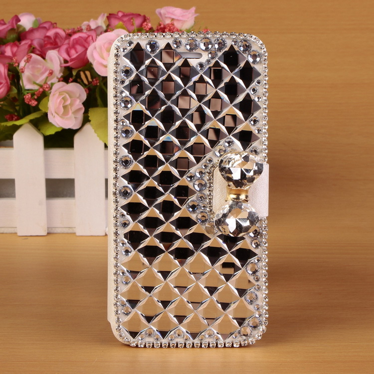 2015 Luxury Bling Case For iPhone 6 Rhinestone Bow Flip Leather Case Cover For Apple Iphone Discount(China (Mainland))
