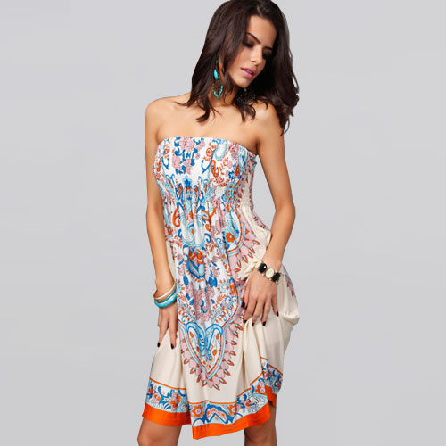 2015 New Summer Style Sexy Ice Silk Sleeveless Fashion Bohemian Print Women Dress Evening Party Dresses Plus Size Vestidos(China (Mainland))