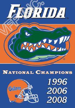 Florida Gators Football Flag 3 Time National Champions NCAA Flag 3ft x 5ft Polyester Banner Flying 150* 90cm Custom flag FG14(China (Mainland))
