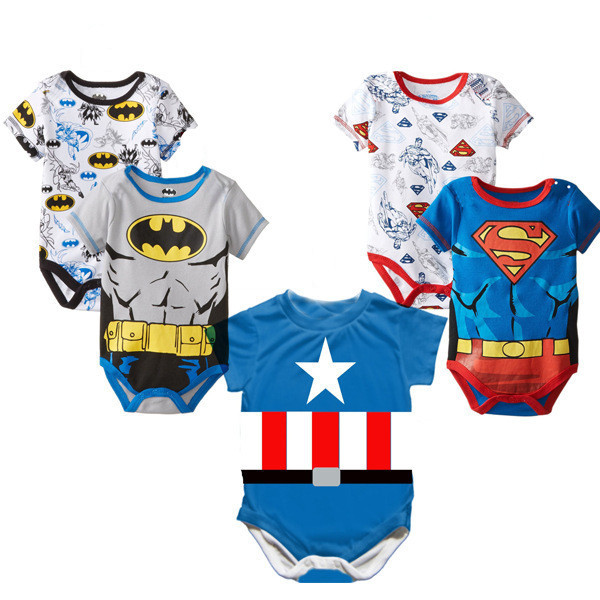 2015 New Style! Superman Baby Romper Baby Boy Clothing Newborn Baby Boys Clothes Infant Boy Birthday Dress Kid Costume(China (Mainland))