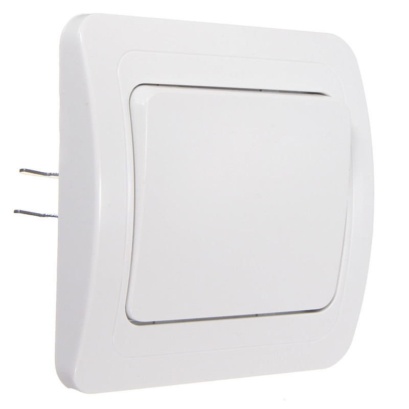 Excellent Quality Wall Socket Panel Light Lamp Switch Push Button 1-Gang 1-Way Controller White(China (Mainland))