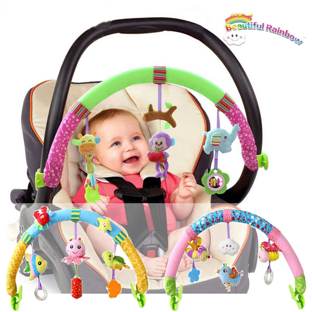 Baby Stroller Car Clip Lathe Hang Car Hanging Seat & Stroller Toys Newborn Kid Ocean Forest Sky Flying Animal Educational Toy(China (Mainland))