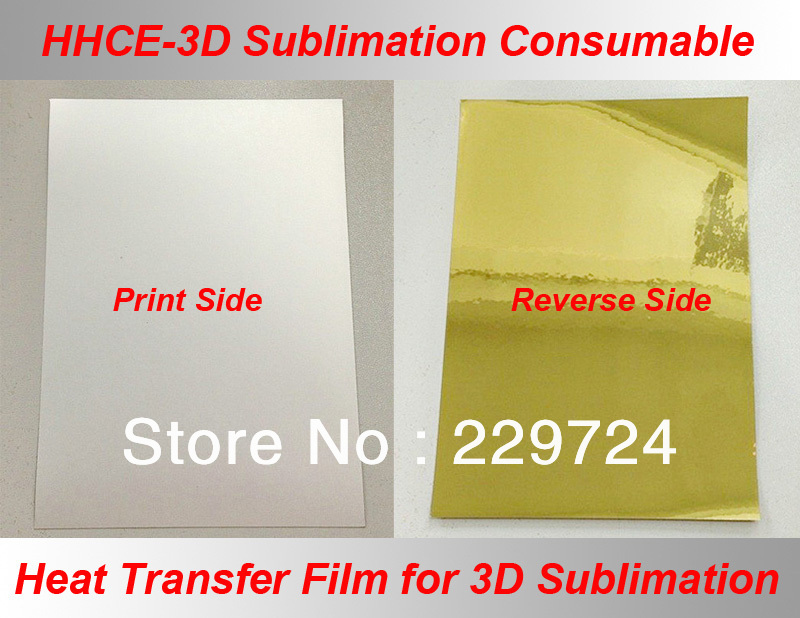 Free shipping 3D dedicated Heat sublimation transfer printing A4 film,Sublimation consumable for Blank case,T-shirt,Mouse pad(China (Mainland))