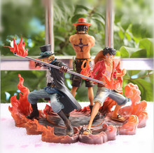 One Piece Figure Ace Luffy Sabo Collectible Action Figure Japanese Anime Figure PVC Cartoon Figurine One Piece Toys Juguetes(China (Mainland))