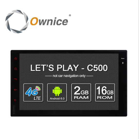 Ownice C500 Android 6.0 2G RAM 7'' 1024*600 Support 4G LTE SIM Network Car Radio GPS 2 din Universal with radio car dvd player(China (Mainland))