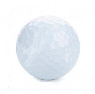 Portable PU Leather Golf Ball Carrying Bag w/ 3 x Golf Balls / 3 x Golf Tees Set - White