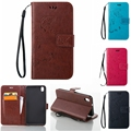 New Hot Vintage Butterfly embossed Wallet PU Leather Case For HTC Desire 816 800 D816W Hand