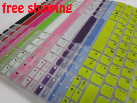 FreeShip 2pcs Colored Silicone Protective US Keyboard Cover Skin Films for Acer R7-571/572 m3-481 v5-431/471 m5-481(China (Mainland))