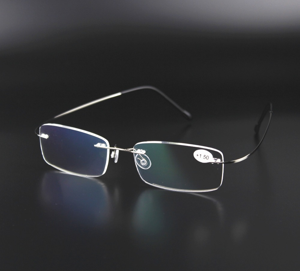 Lightweight Titanium Eyeglass Frames : Original Brand Case Reading Galsses Ultra light Titanium ...