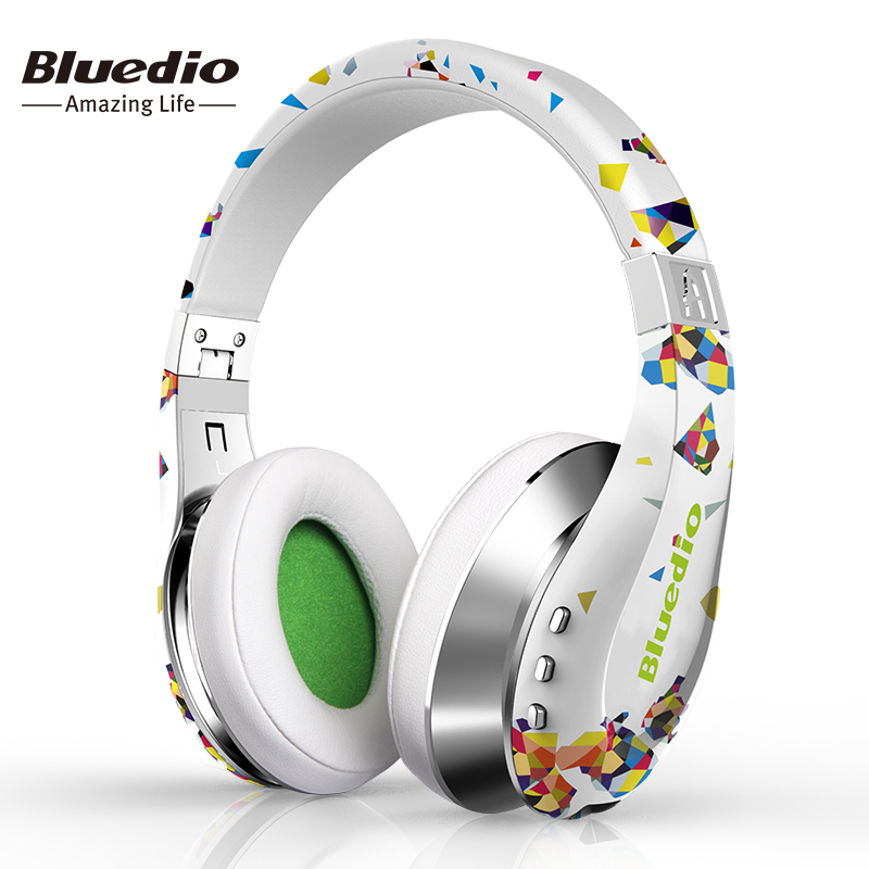 Bluedio A (Air) Fashionable Wireless Bluetooth Headphones with Microphone, HD Diaphragm, Twistable Headband, 3D Surround Sound(China (Mainland))