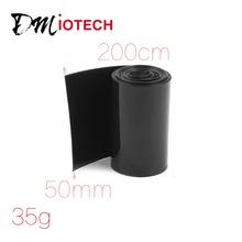 50mm 30mm PVC Heat Shrink Tubing Wrap Negro 2 m 6.5ft para 2×18650 de La Batería