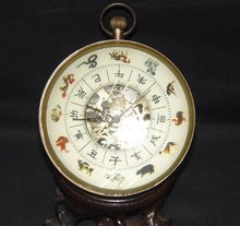 RARE classicality clock bronze 12animal model Free shipping