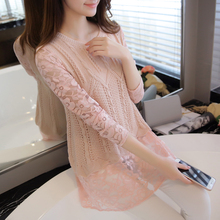 3172 - a new spring in the long section of Korean false two primer knit Chiffon one-piece female 65(China (Mainland))