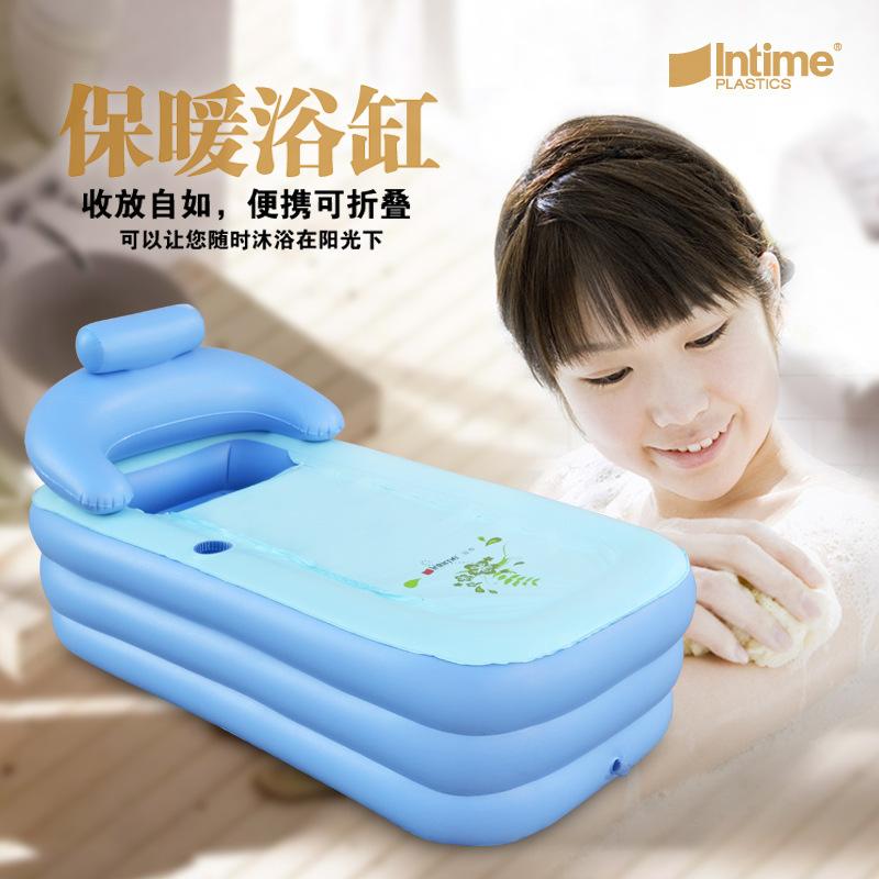 Adult Spa PVC Folding Portable Bathtub Inflatable Bath Tub Pool With Zipper Cover Drink Holder(China (Mainland))
