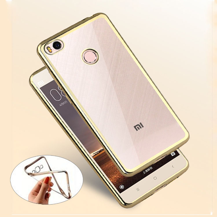 For Xiaomi Mi4s Plating Gilded TPU Phone Case For Xiaomi Mi 4s Mi4 s Silicone Soft Clear Crystal Back Case Cover Bag Shell(China (Mainland))