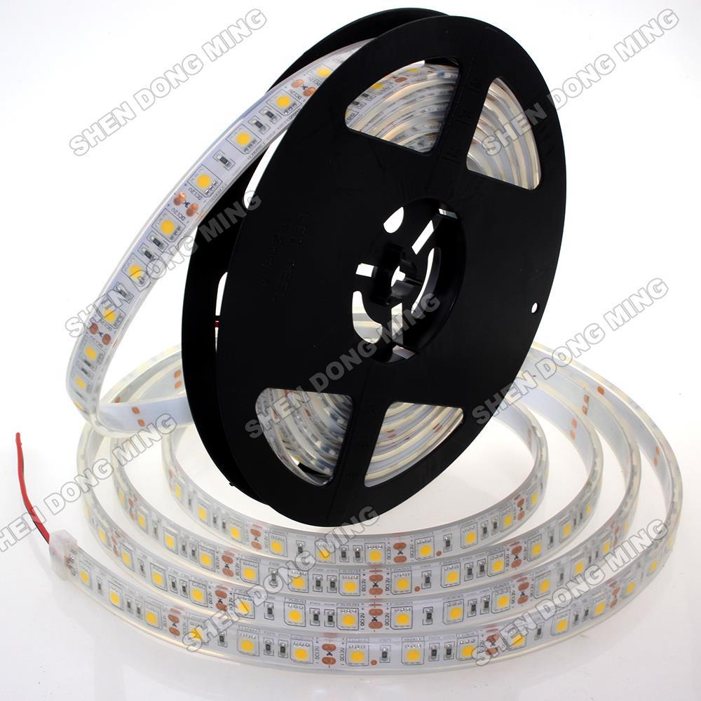 5m silicon tube Injection RGB LED Strip IP68 5050 SMD Waterproof Pool Lighting Aquarium DC 12V flexible light tape ribbon(China (Mainland))