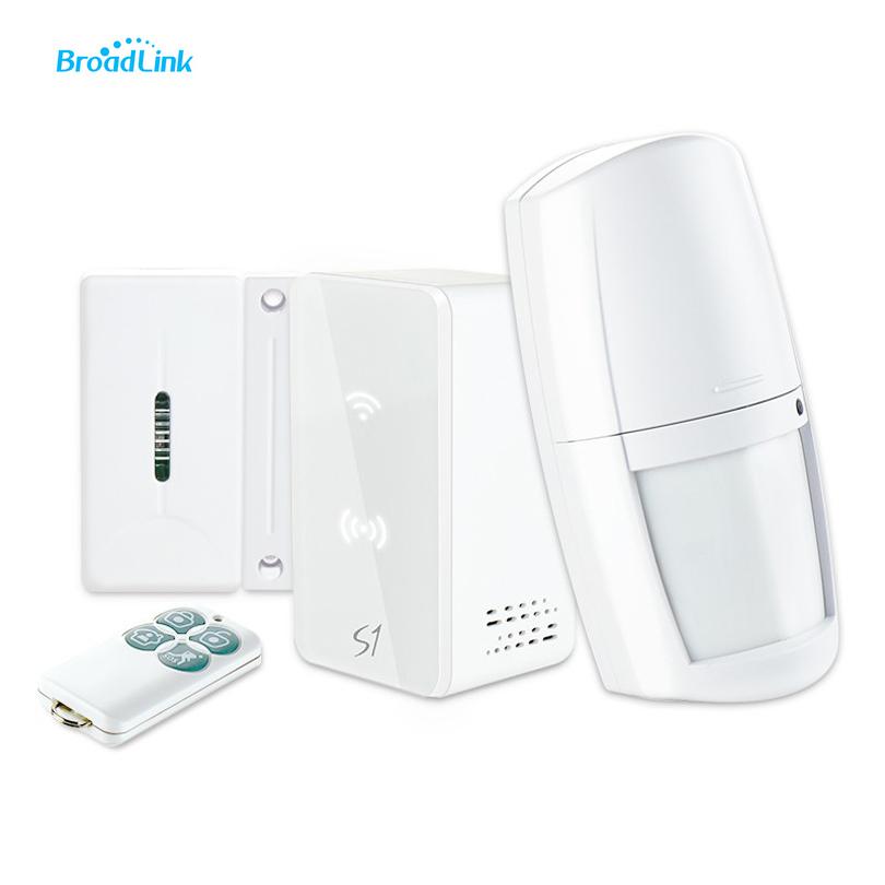 Broadlink s1 s1c smartone alarm door sensor pir sensor for Smart home alarm system