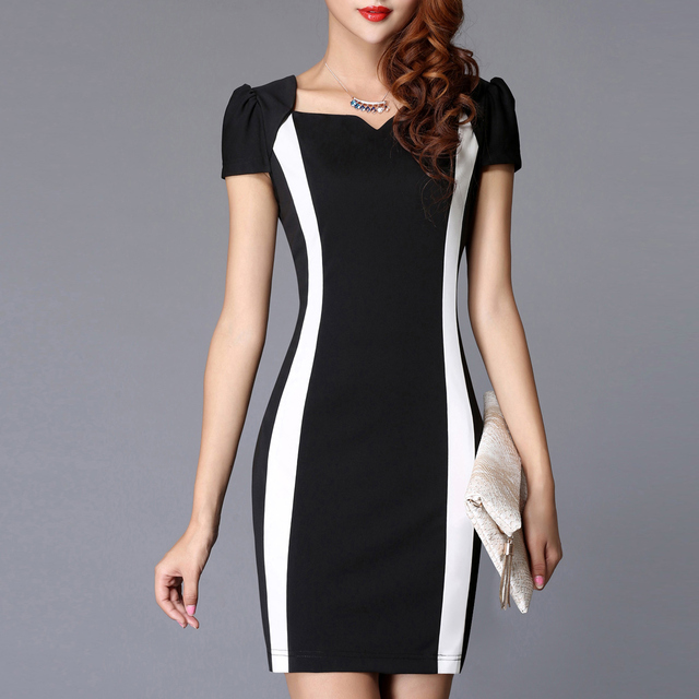 Fashion fashion summer one-piece dress new arrival bubble short-sleeve patchwork color block slim one-piece dress 8272