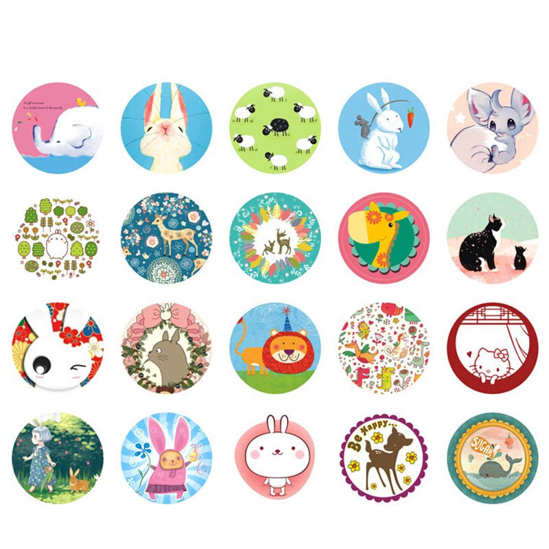 76 pcs/2 boxes cute animals mini paper sticker decoration decal diy album scrapbooking sealing sticker kawaii stationery gift(China (Mainland))