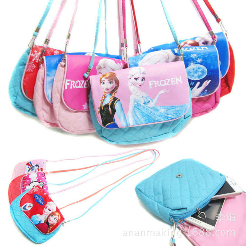 Гаджет  Fashion Children Handbags Girls Cute PU Messenger Bag Kitty Elsa Anna Snow Queen Princess Shoulder Bag Kids Travel Casual Bags None Камера и Сумки