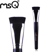 MSQ Brand Professional Cosmetics Makeup Tool And Top Quality Synthetic Hair Single Makeup Brush Flat Contour Brush For Beauty(China (Mainland))
