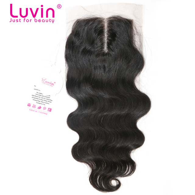 Grade 6A Bleached Knots Virgin Human Hair Lace Closure Body Wave 100% Human Hair Top Closure Middle Part Swiss Lace 4*3.5