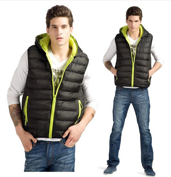Men's Cotton Vest 2015 Autumn Winter Halloween Candy Color Casual vests men With Four Color Chalecos hombre Men clothing(China (Mainland))