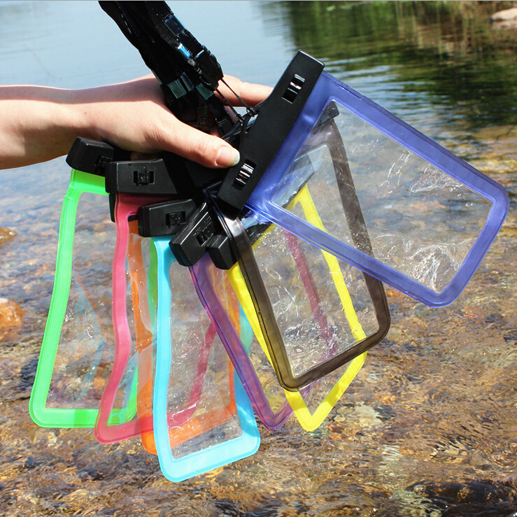 100% Water proof Bag sealed Waterproof Durable Underwater back cover Case For galaxy s4/3 for iPhone 5 5s 4 4s for touch 5 Pouch(China (Mainland))