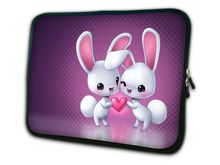 "Free Shipping Rabbit 12"" Neoprene Soft Laptop Netbook Sleeve Case Bag Cover For 11.6"" Dell alienware m11x,Waterproof,Shockproof(China (Mainland))"