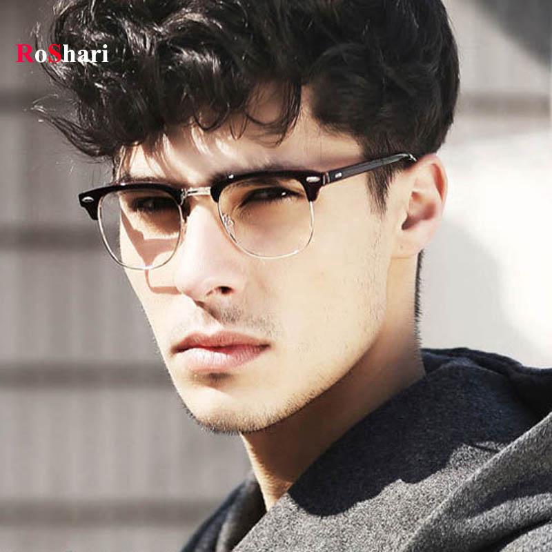 roshari unisex clear lens nerd geek men sunglasses women brand designer vintage sun glasses men gafas oculos de sol